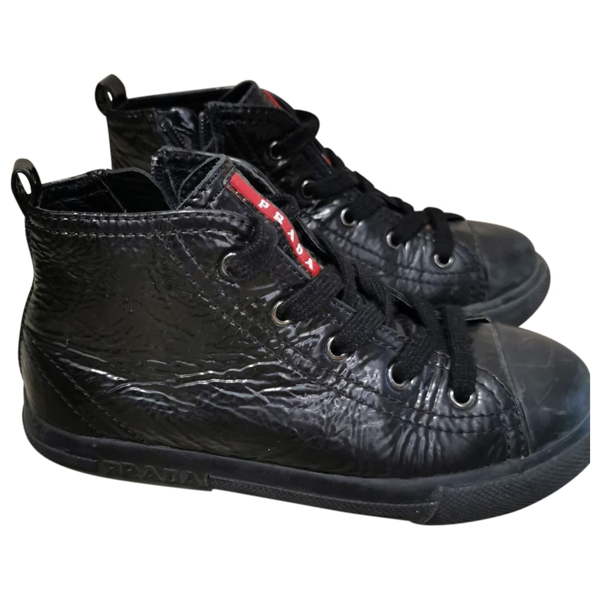 Prada \N Black Leather Lace up boots for Kids 28 EU