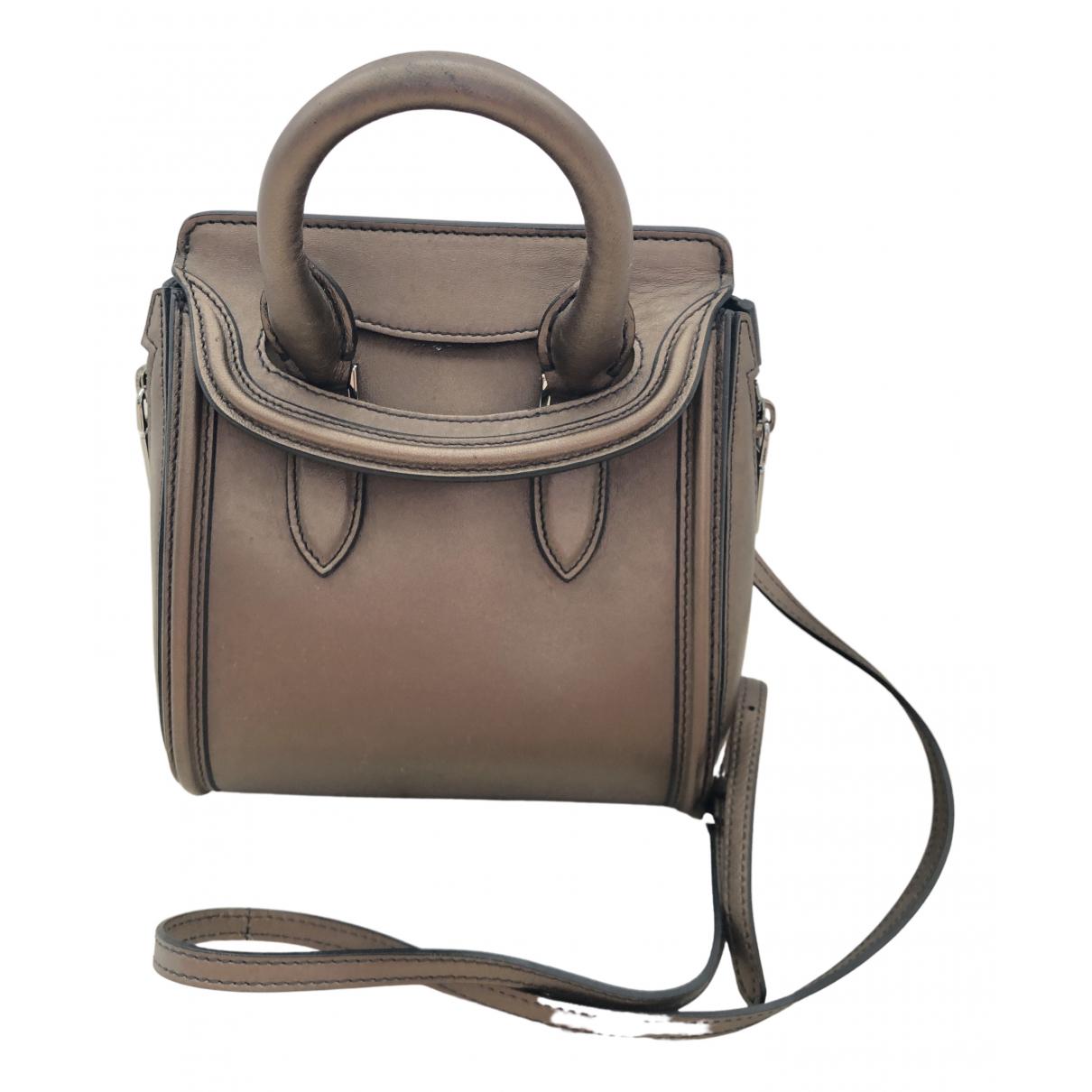 Alexander Mcqueen Heroine Metallic Leather handbag for Women \N
