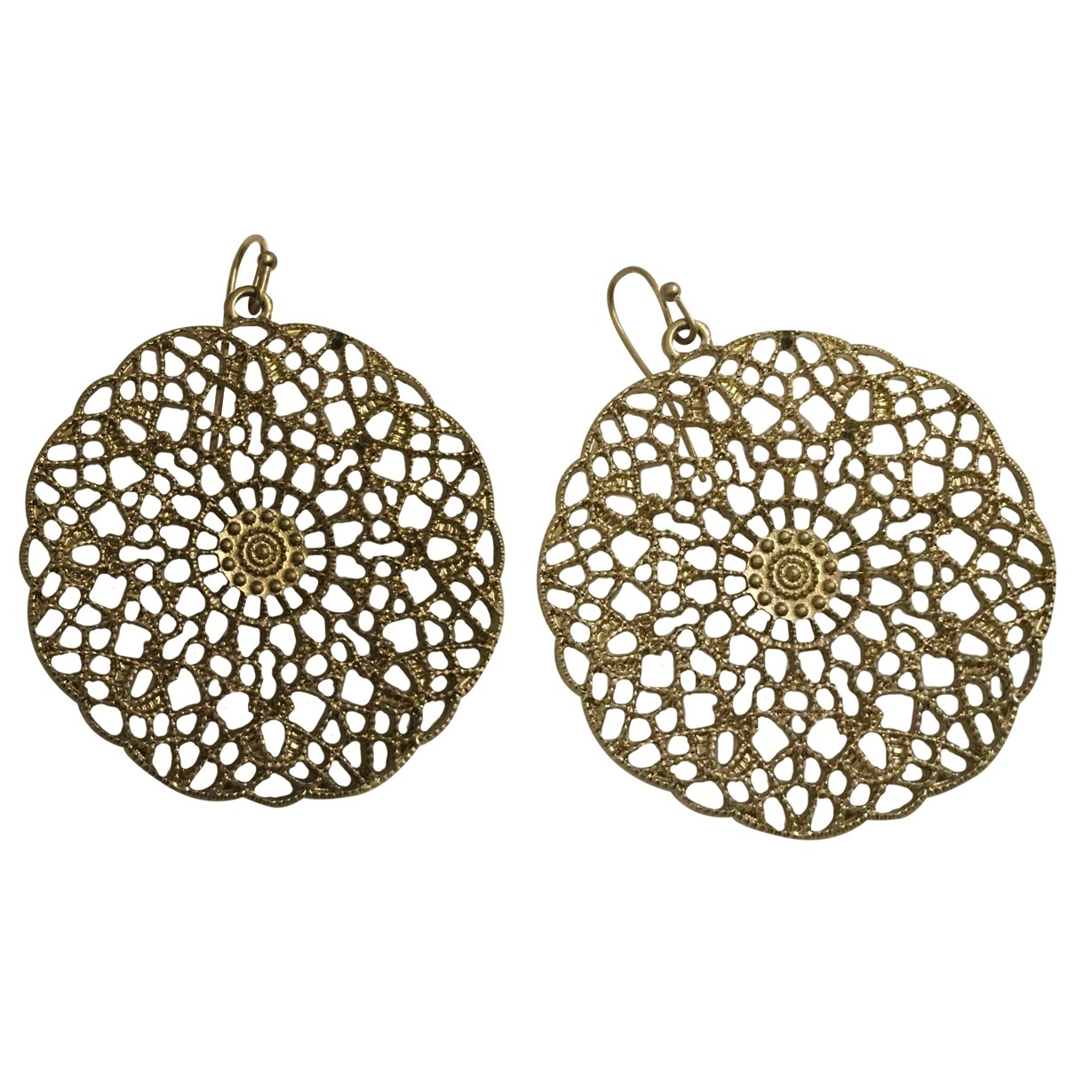 Non Signe / Unsigned Motifs Floraux OhrRing in  Metallic Metall