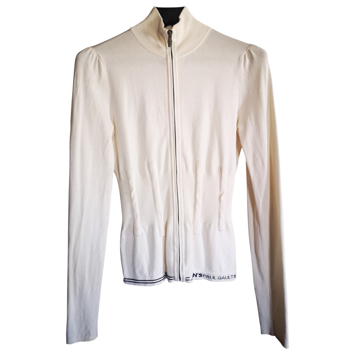 Jean Paul Gaultier - Pull   pour femme en coton - ecru