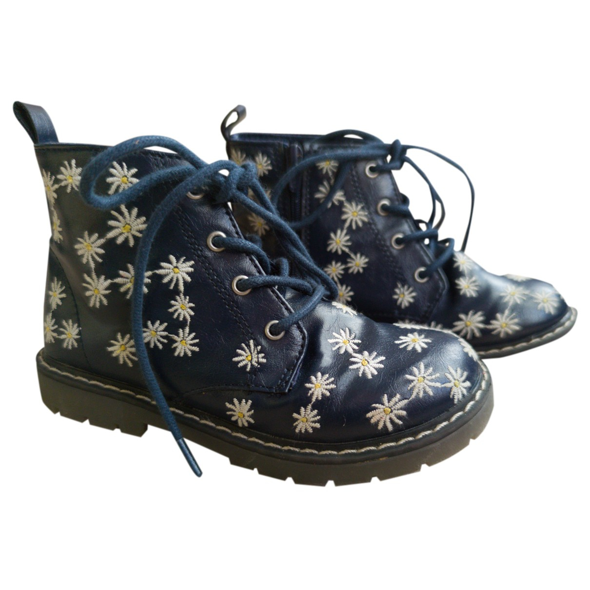 Zara N Blue Leather Boots for Kids 26 FR