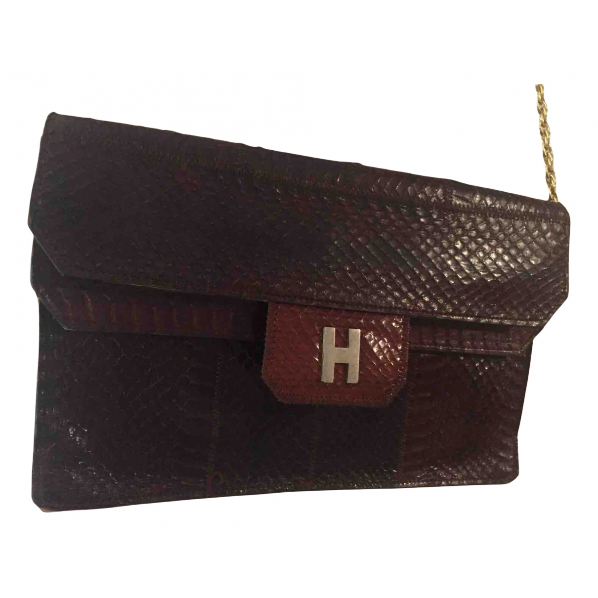 Non Signe / Unsigned \N Clutch in  Bordeauxrot Python