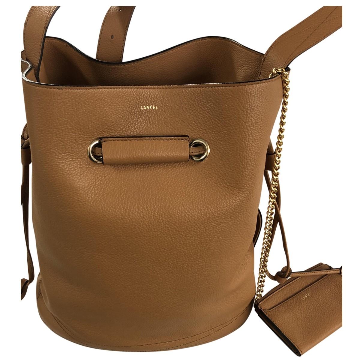 Lancel Huit Handtasche in  Kamel Leder