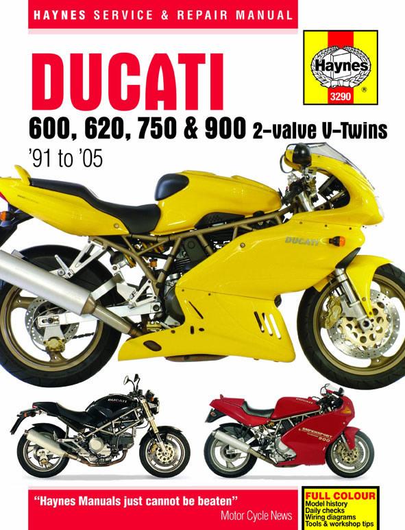 Ducati 600, 620, 750 & 900 2-valve V-Twins (91-05) Haynes Repair Manual