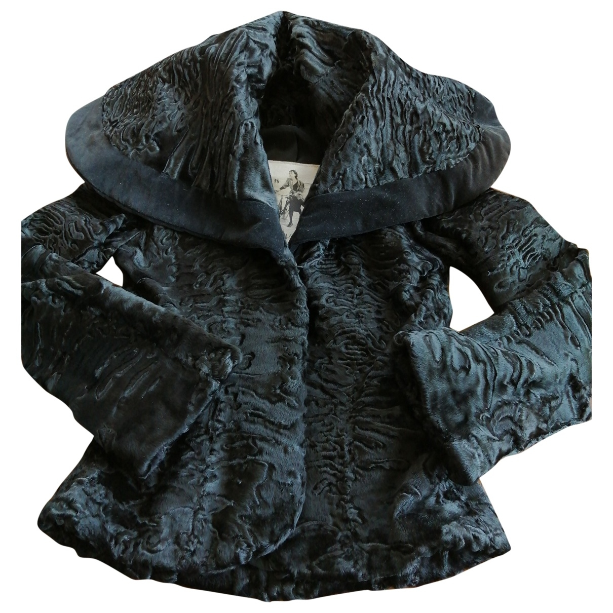 Non Signé / Unsigned \N Black Astrakhan jacket for Women 40 IT