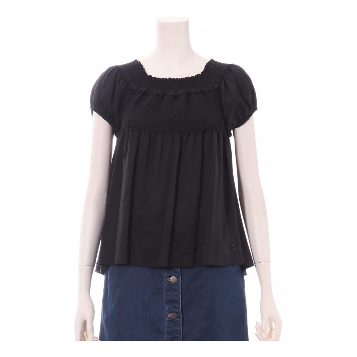 Chanel N Black Silk  top for Women 36 FR
