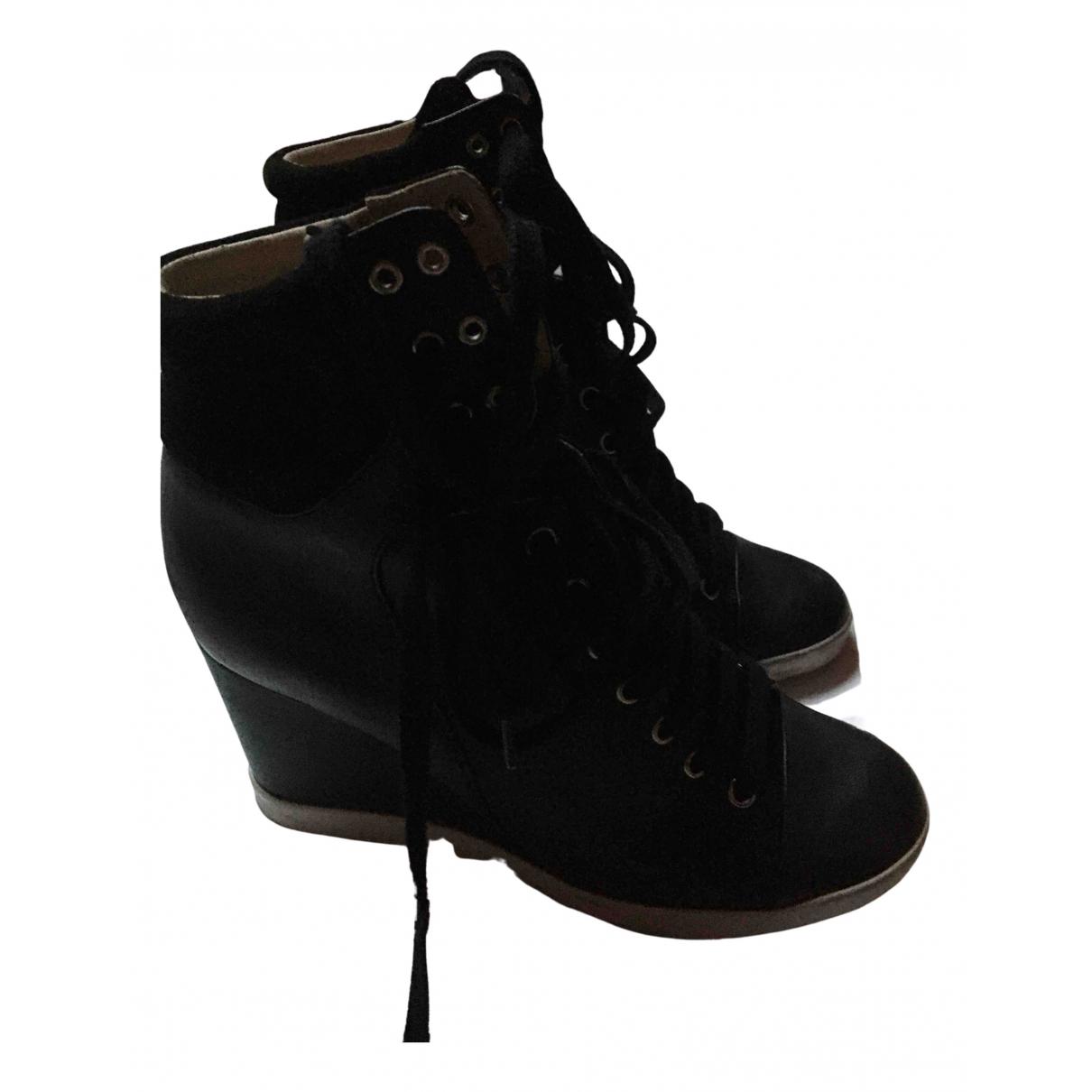 See By Chloe \N Sneakers in  Schwarz Veloursleder