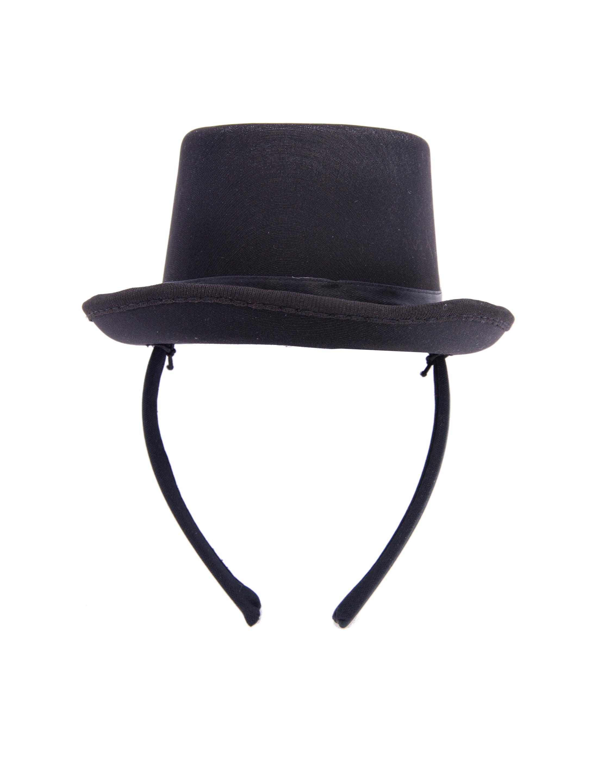 Kostuemzubehor Haarreif Mini Hut schwarz