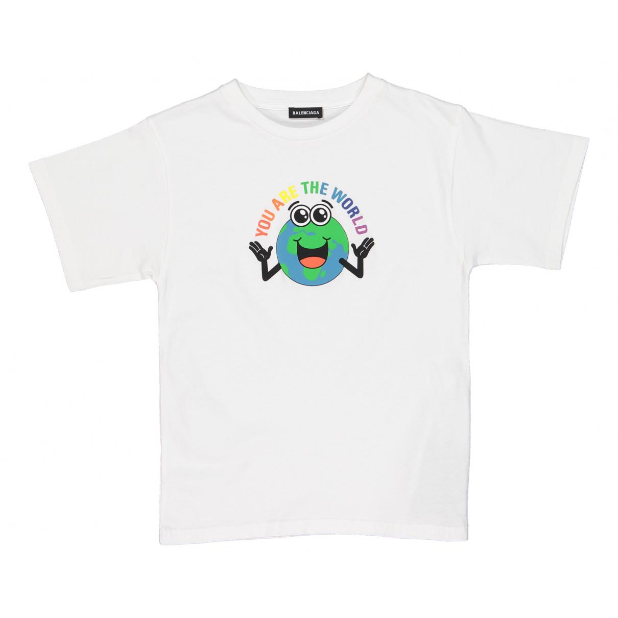 Balenciaga - Top   pour enfant en coton - blanc