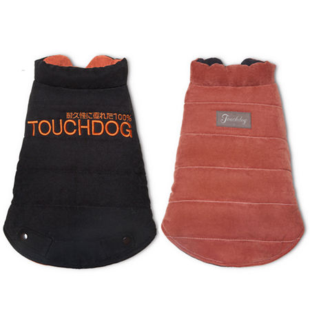 The Pet Life Touchdog Waggin Swag Reversible Insulated Pet Coat, One Size , Brown