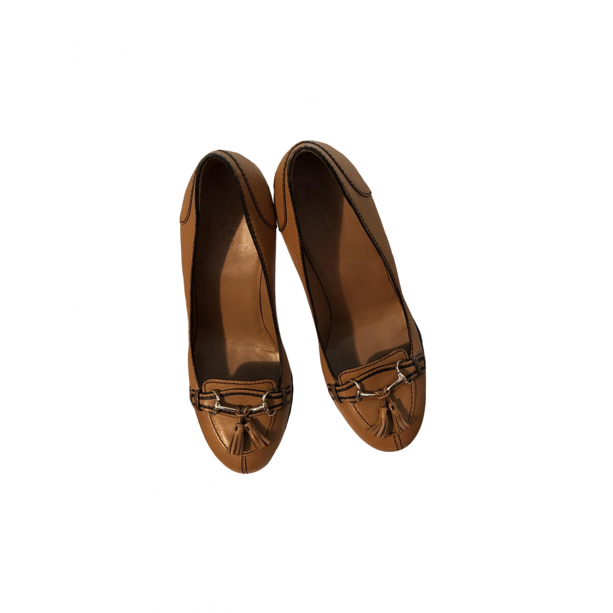 Gucci \N Camel Leather Heels for Women 37.5 EU