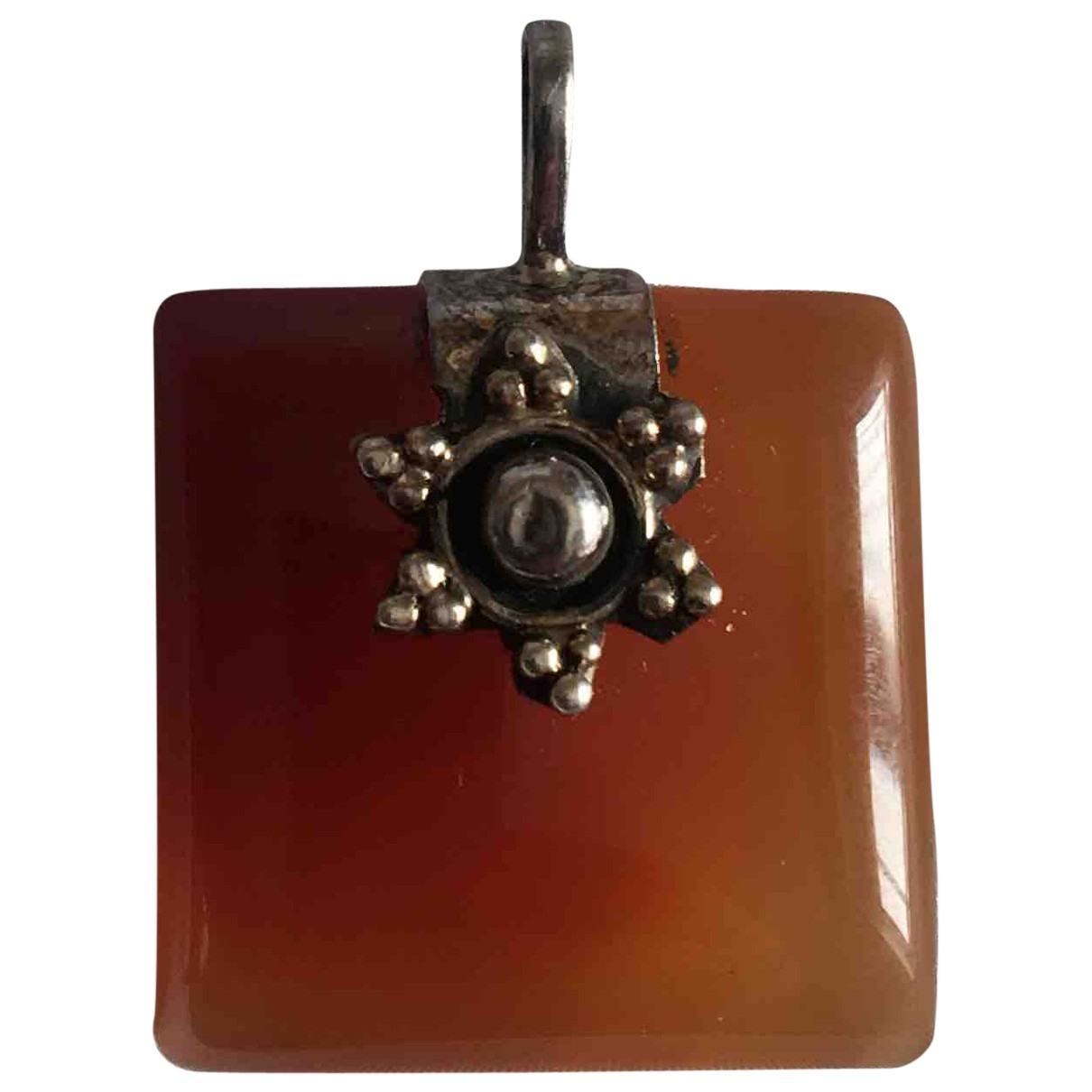 Non Signé / Unsigned \N Orange Silver pendant for Women \N