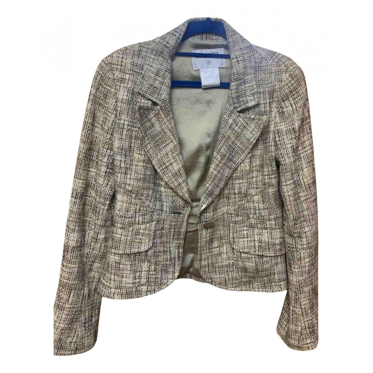 Chanel \N Jacke in  Braun Tweed