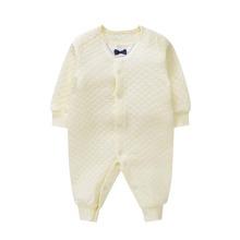 Baby Boy Little Bow Popper Front Jumpsuit