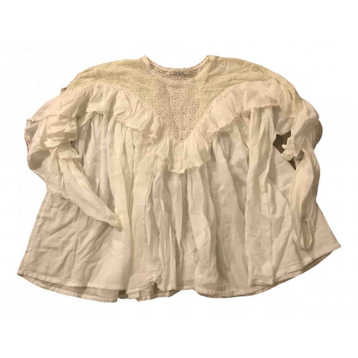 Mes Demoiselles ... - Top   pour femme en coton - blanc