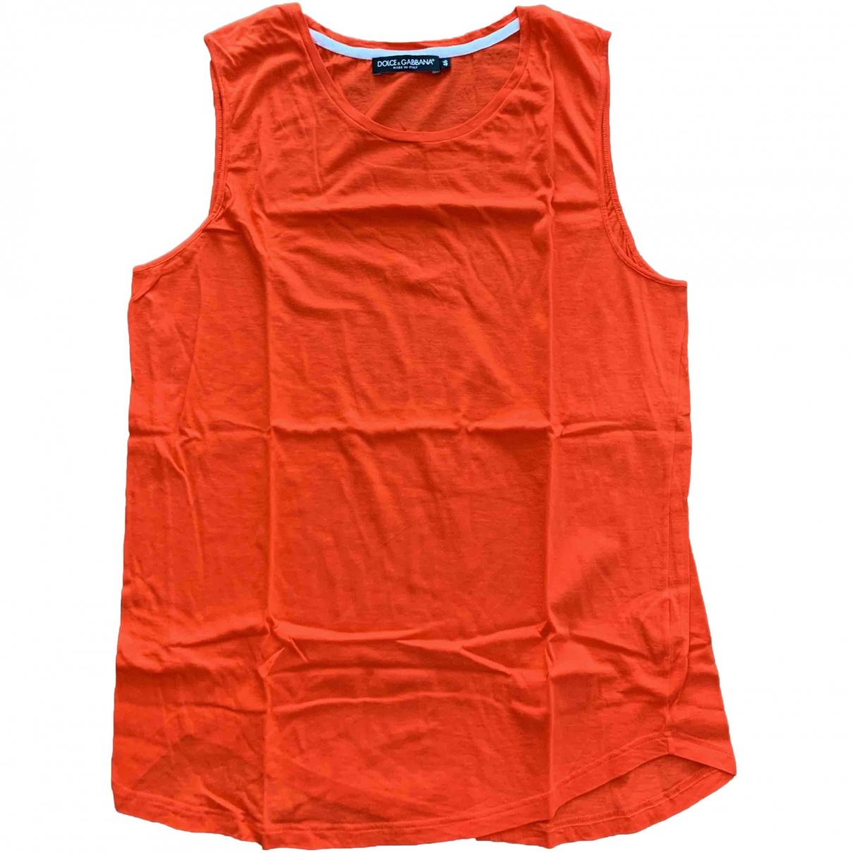Dolce & Gabbana - Tee shirts   pour homme en coton - rouge