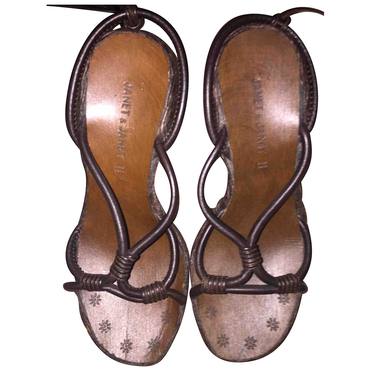 Janet & Janet \N Brown Leather Sandals for Women 38 EU