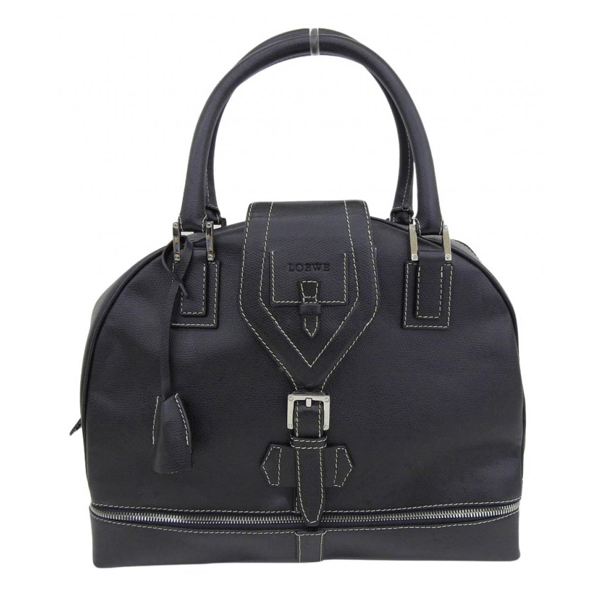 Loewe \N Handtasche in  Schwarz Leder