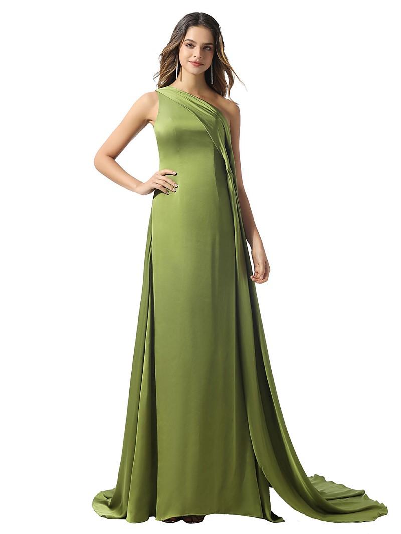 Ericdress Floor-Length A-Line Sleeveless Evening Dress 2020