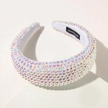Rhinestone Wide Hair Hoop