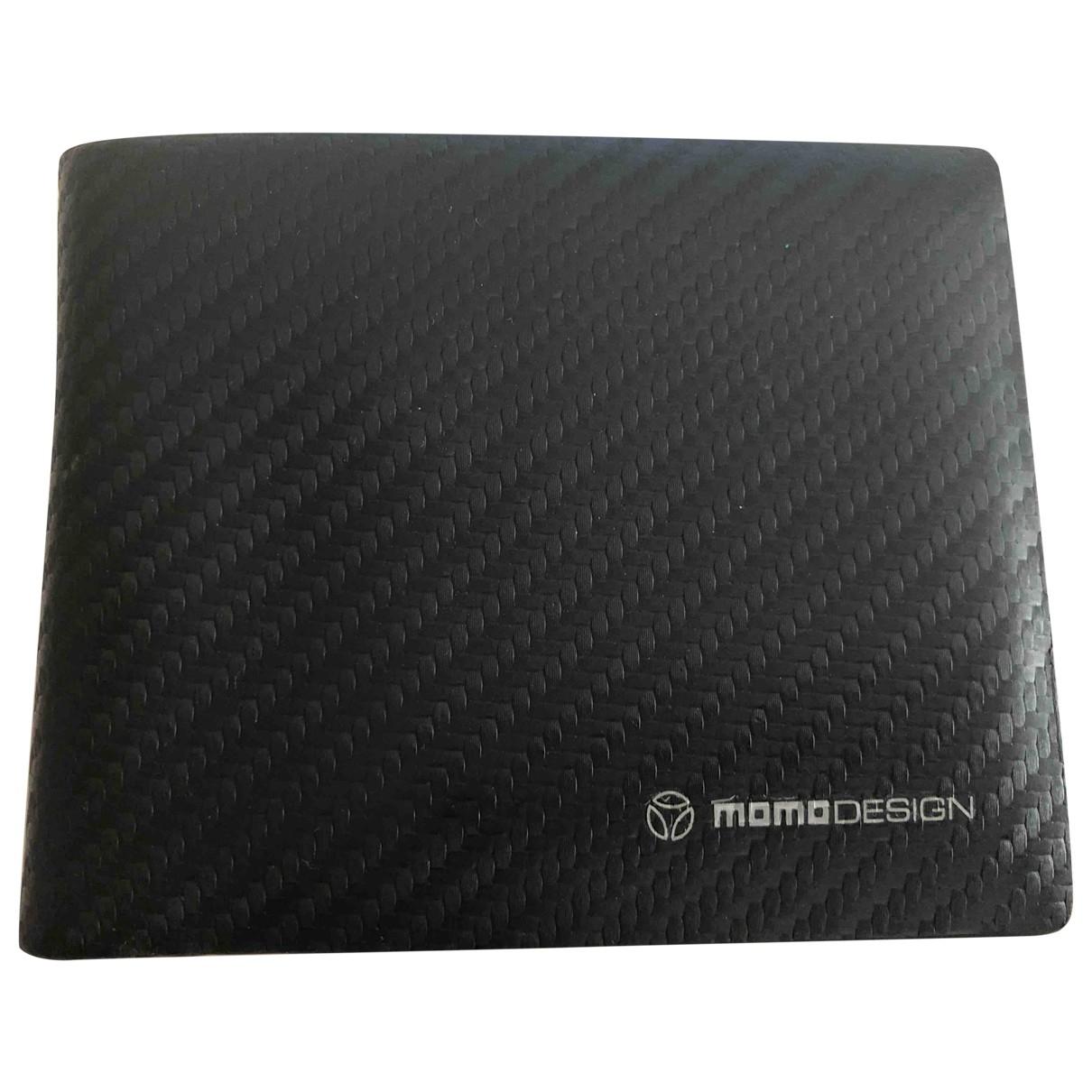 Momo Design - Petite maroquinerie   pour homme en cuir - noir