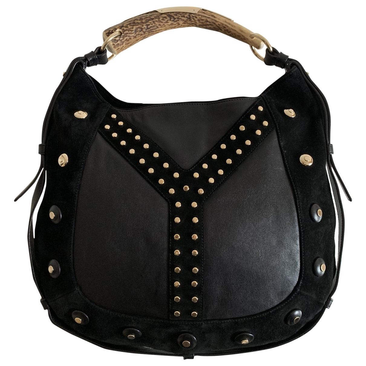 Yves Saint Laurent Mombasa Handtasche in  Schwarz Leder