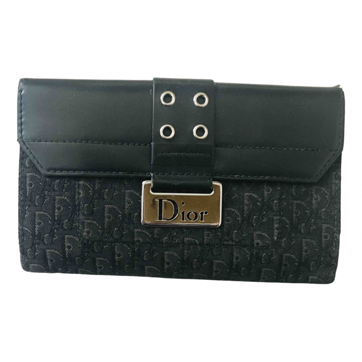 Dior \N Black Cloth wallet for Women \N