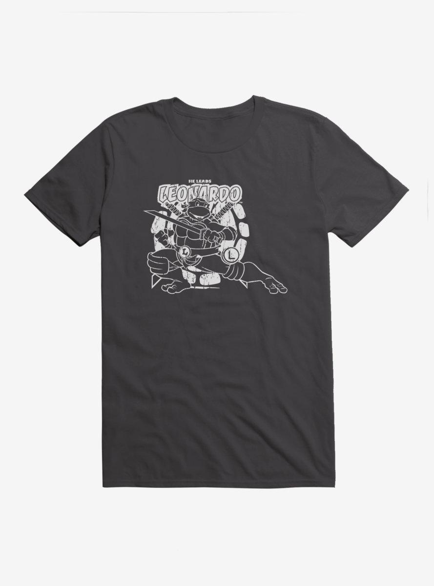 Teenage Mutant Ninja Turtles Leonardo Outline Shadow T-Shirt