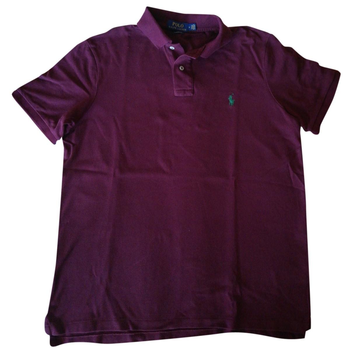 Polo Ralph Lauren - Polos   pour homme en coton - bordeaux