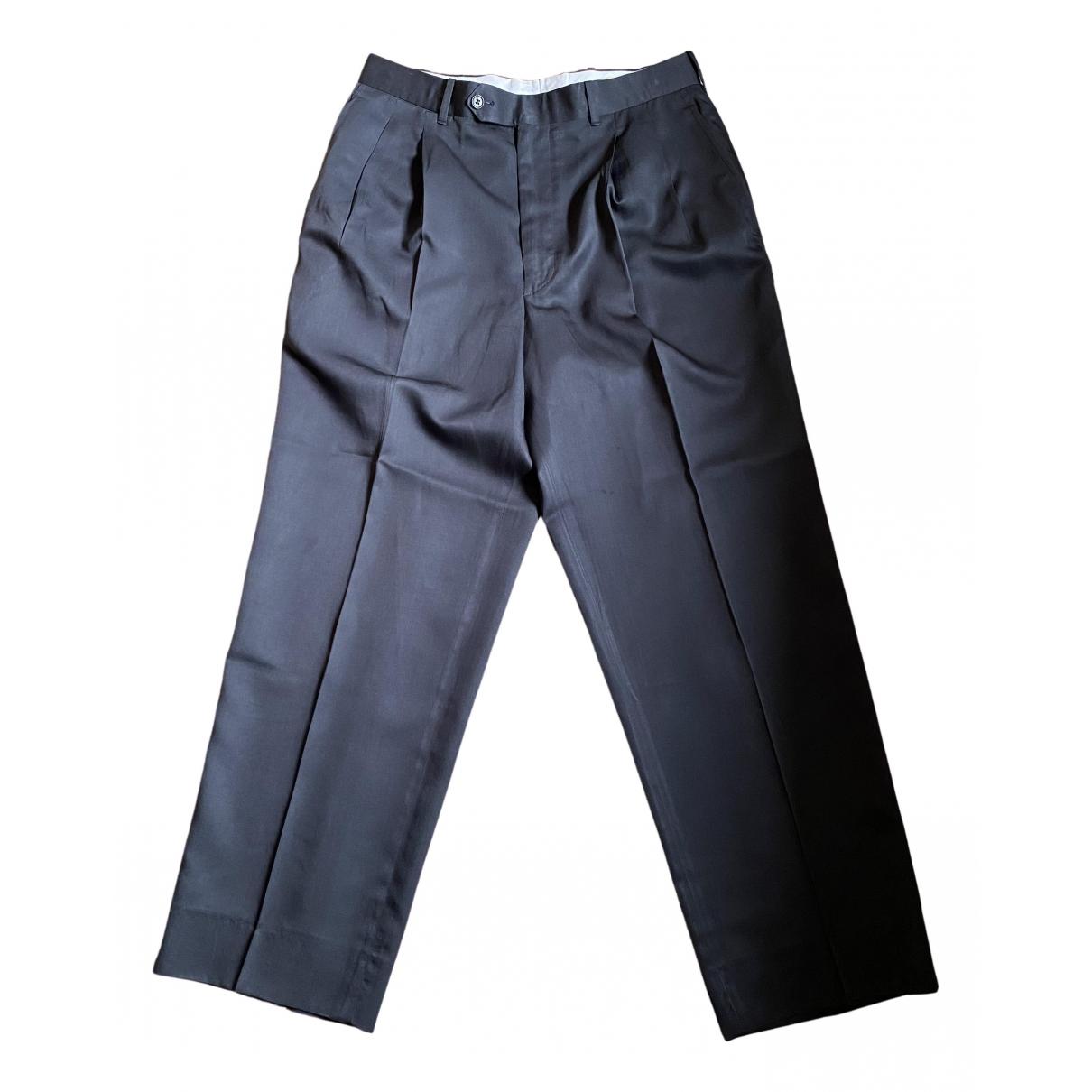 Valentino Garavani N Grey Cotton Trousers for Men 46