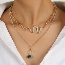 2pcs Flower Charm Necklace