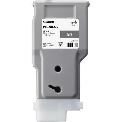 Canon PFI-206GY 5312B001AA Original Gray Ink Cartridge