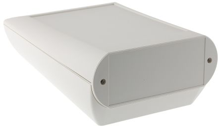 OKW Comtec, Sloped Front, ABS, 120 x 150 x 63mm Desktop Enclosure, White