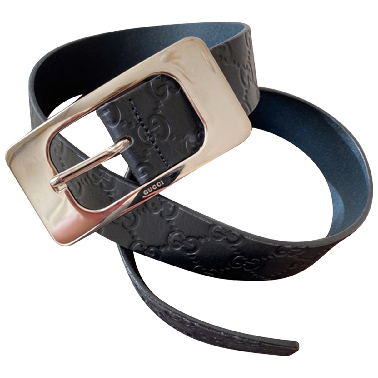 Gucci \N Black Leather belt for Men 85 cm
