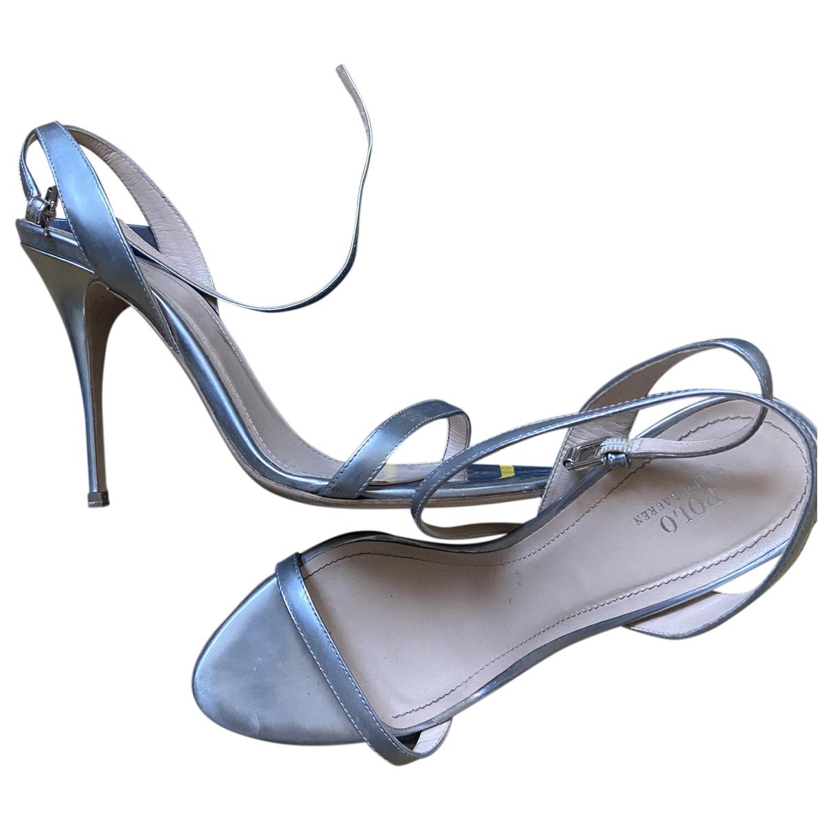 Polo Ralph Lauren - Escarpins   pour femme en cuir - argente