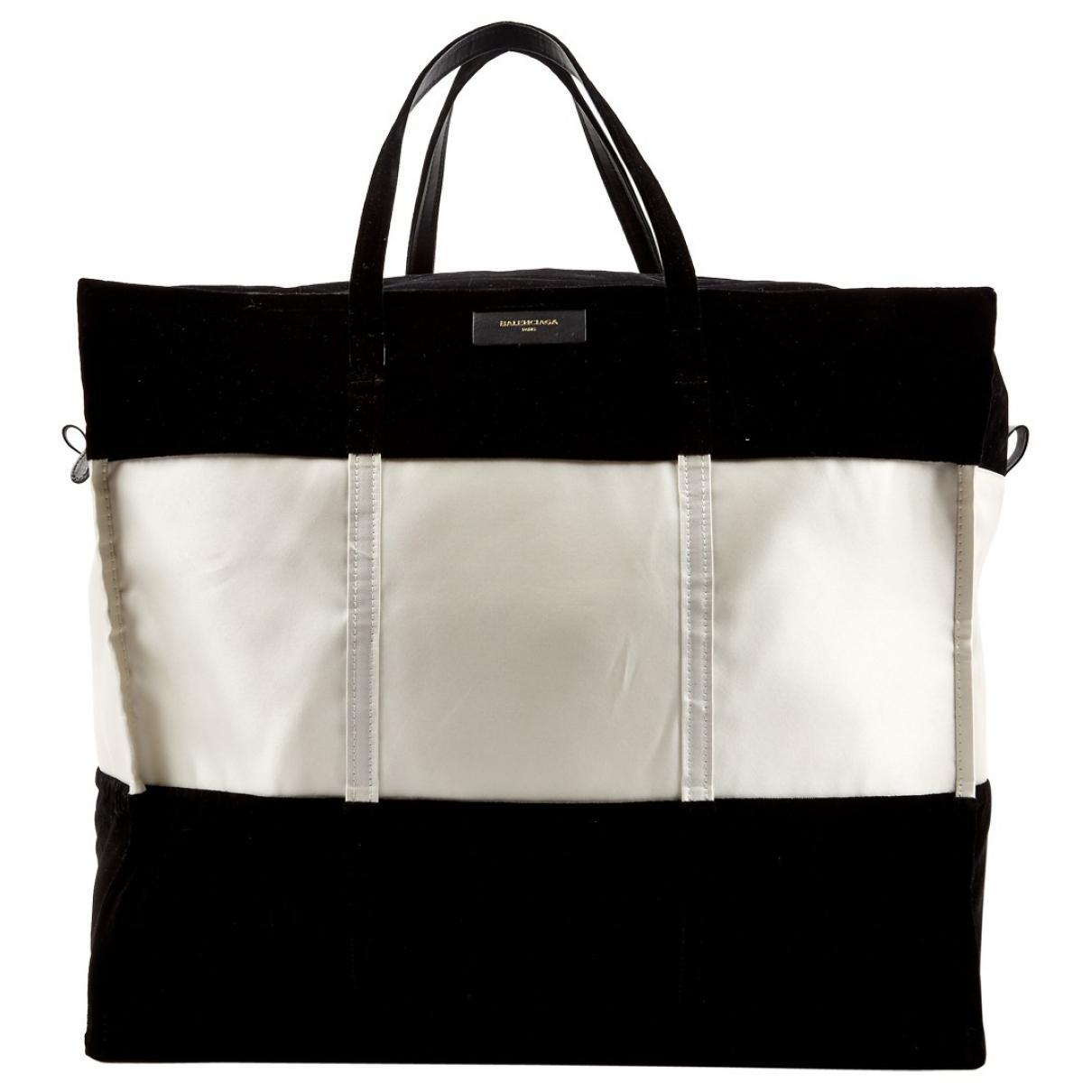 Balenciaga - Sac de voyage Bazar Bag pour femme en velours - noir