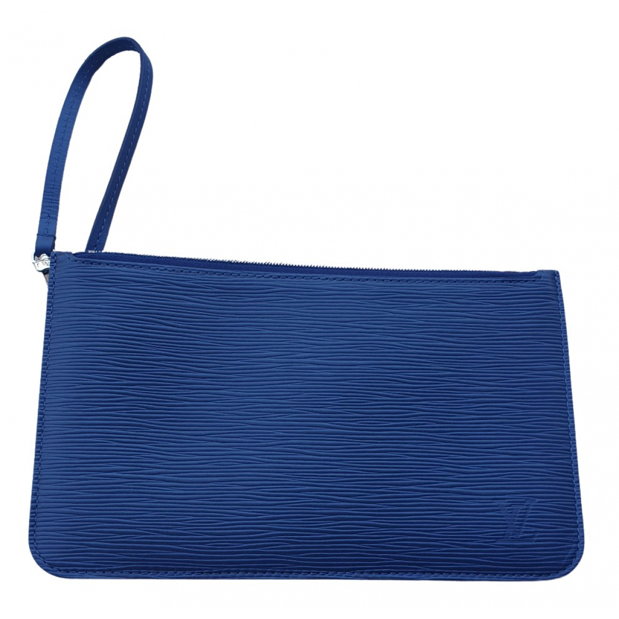 Louis Vuitton Neverfull Blue Leather Clutch bag for Women \N