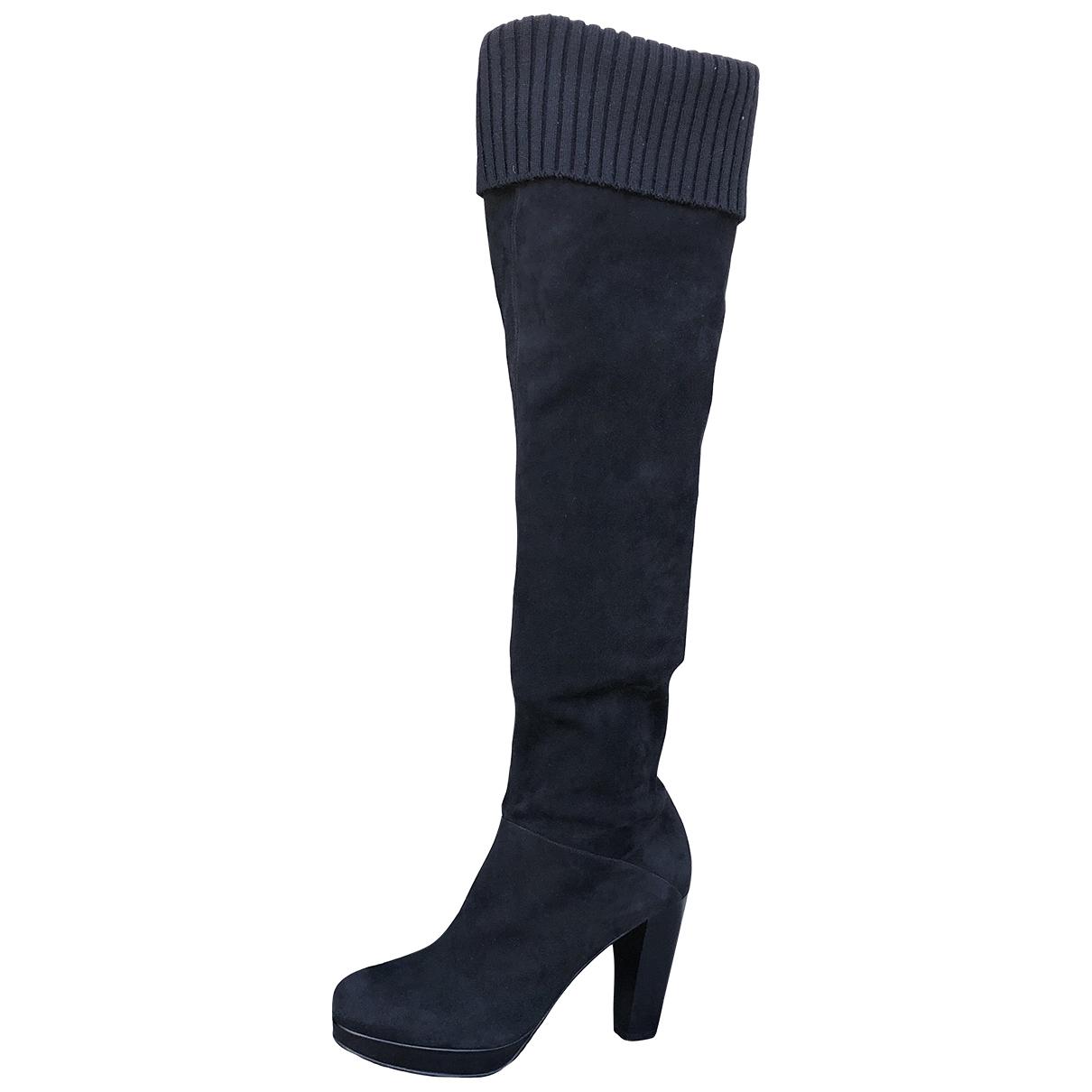 Fratelli Rossetti - Bottes   pour femme en velours - noir