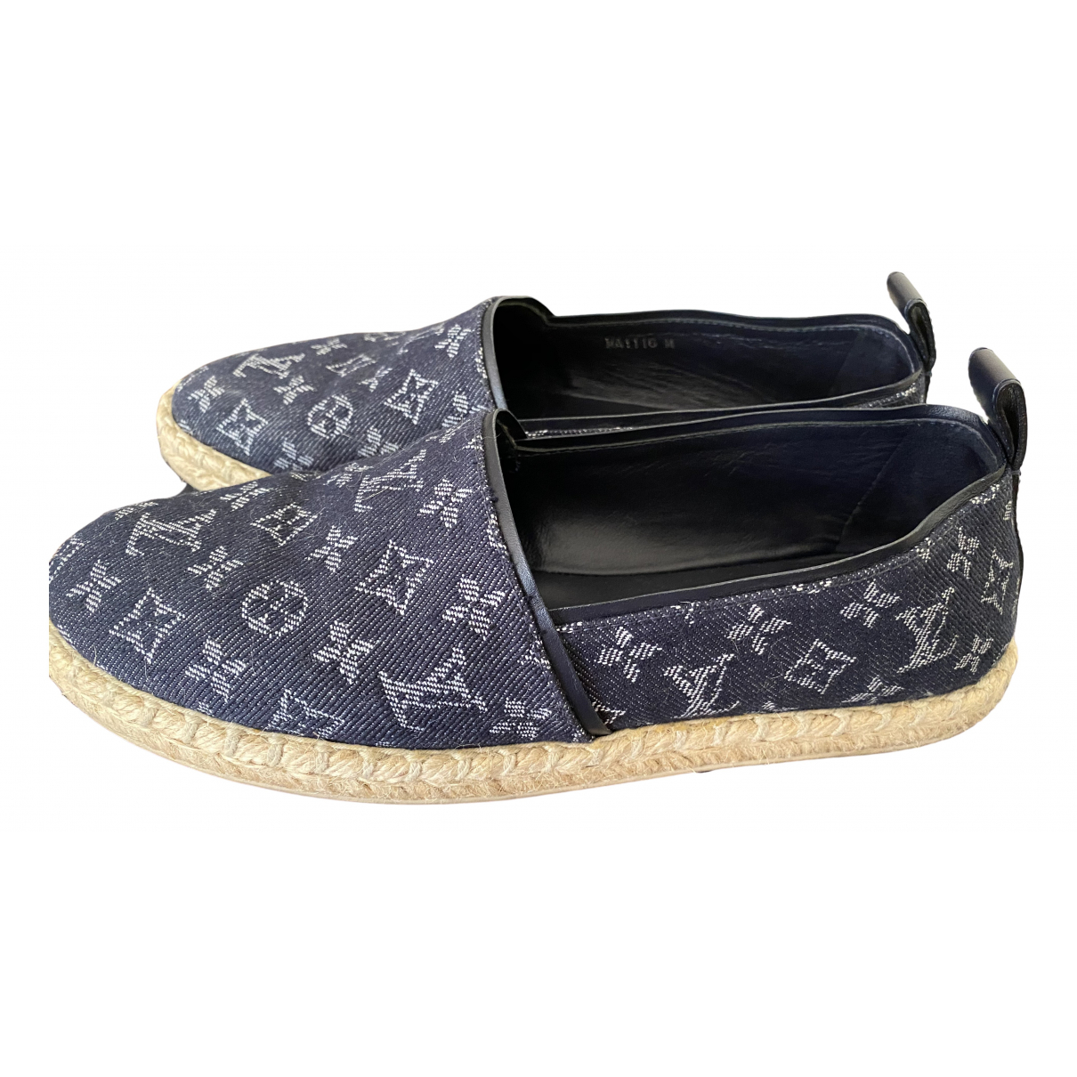 Louis Vuitton \N Espadrilles in  Blau Denim - Jeans