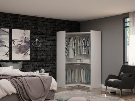 Mulberry Collection 108GMC1 Wardrobe/ Armoire/ Closet with Contemporary Modern Style  Medium-Density Fiberboard (MDF) Frame and Medium-Density