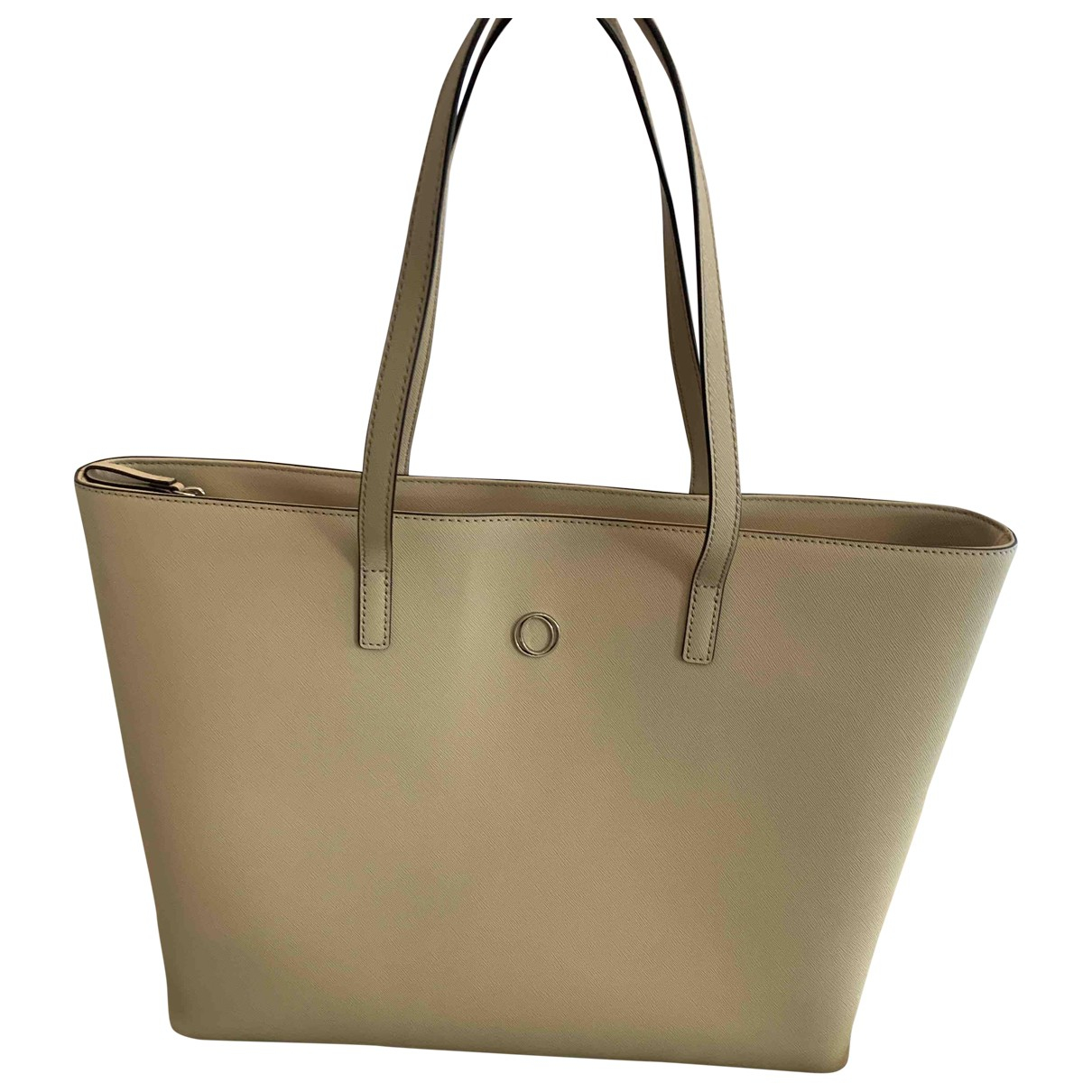 Oroton - Sac a main   pour femme en cuir - beige