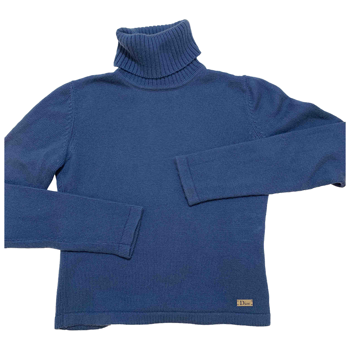 Dior - Pull   pour femme en cachemire - bleu
