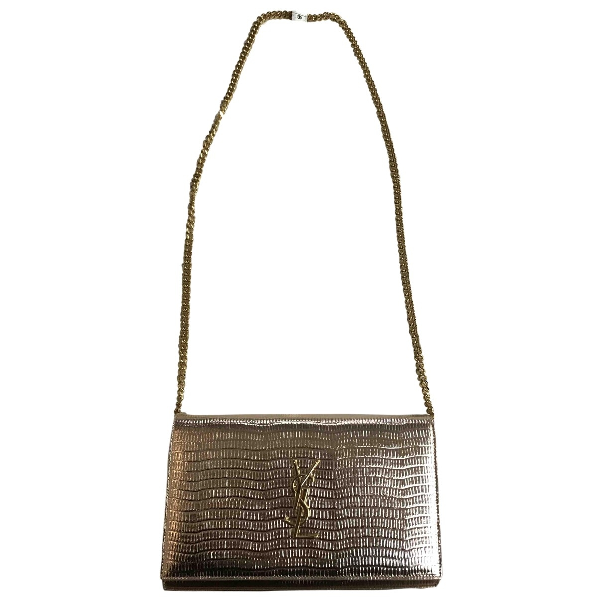 Saint Laurent Kate monogramme Gold Leather handbag for Women \N