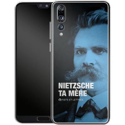 Huawei P20 Pro Silikon Handyhuelle - Nietzsche Ta Mere von Fists Et Lettres