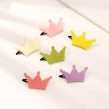 6 piezas horquilla de niñitas con corona