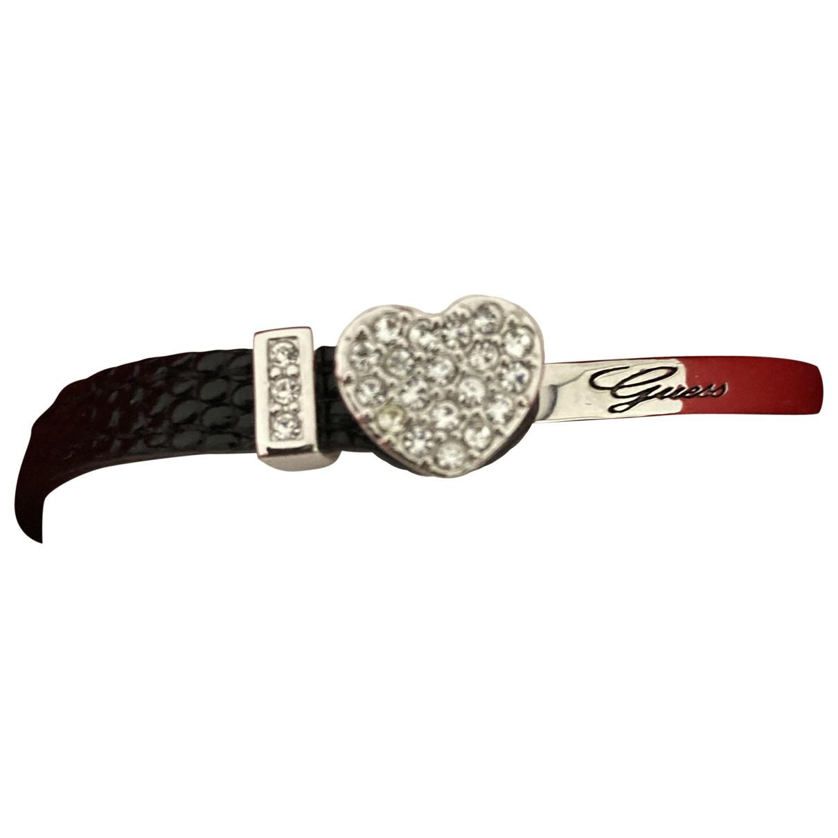 Guess - Bracelet   pour femme en cuir - noir