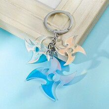 Men Shuriken Charm Keychain