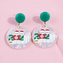 Ohrringe mit Weihnachten Muster