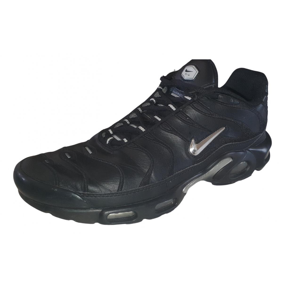 Nike - Baskets Air Max Plus  pour homme en cuir verni - noir