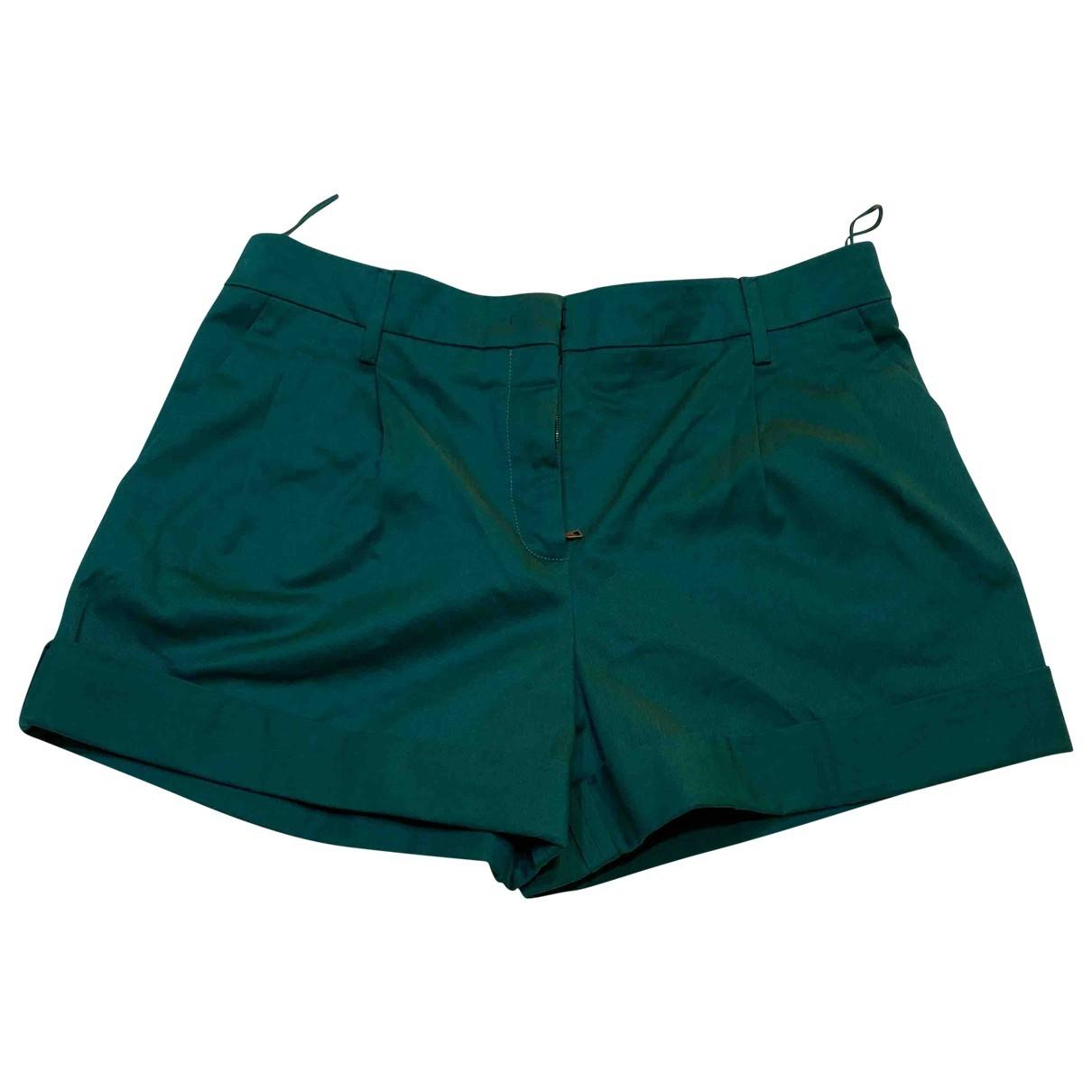 Prada \N Green Cotton Shorts for Women 36 IT
